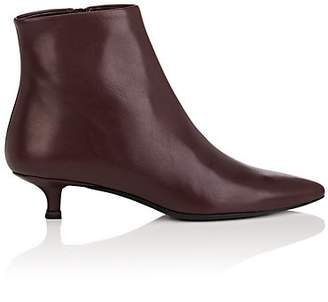 The Row Women's Coco Leather Ankle Boots - Wine