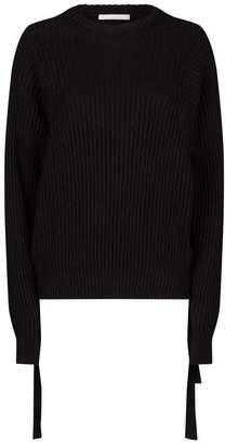 Helmut Lang Cotton Side Buckle Sweater