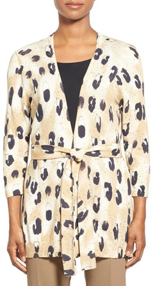 Lafayette 148 New York Print Georgette Back Cardigan $448 thestylecure.com