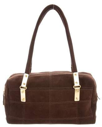 Ungaro Small Quilted Suede Shoulder Bag