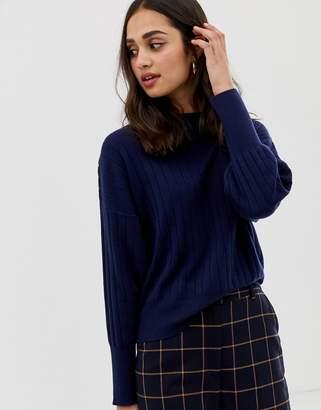 Asos Design DESIGN eco fine knit jumper with drop shoulder
