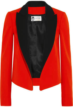 Lanvin - Two-tone Wool-twill Tuxedo Jacket - Red $2,195 thestylecure.com