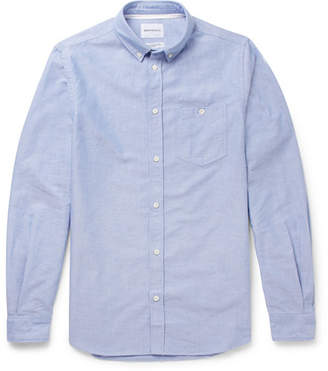 Norse Projects Anton Button-Down Collar Cotton Oxford Shirt - Blue