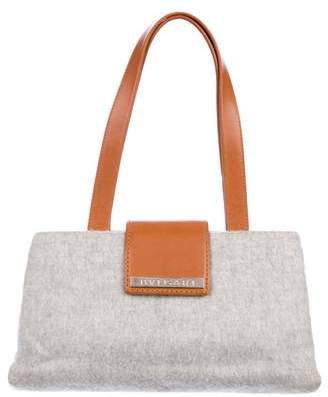 Bvlgari Leather-Trimmed Wool Tote