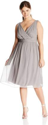 Donna Morgan Women's Plus-Size Sleeveless V Neck Jessie Dress