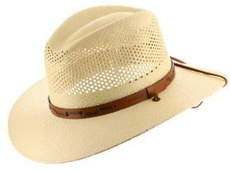 Stetson Ultrafino Outback Vented Mens Straw Panama Hat 7 3/4