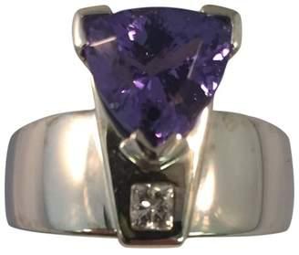 Fab 18K Custom made Tanzanite And Diamond Ring