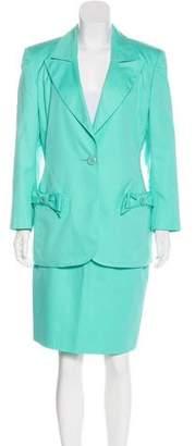 Valentino Peak-Lapel Skirt Suit
