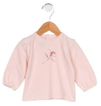 Burberry Girls' Graphic Long Sleeve Top pink Girls' Graphic Long Sleeve Top