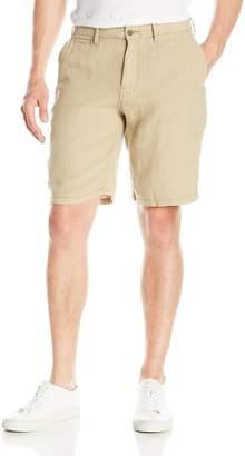 Lucky Brand Men's Linen Flat Front Short