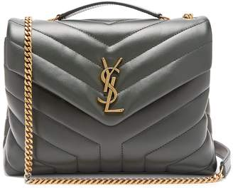 Saint Laurent Monogram quilted-leather bag