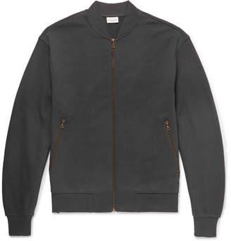 Dries Van Noten Mesh-Panelled Loopback Cotton-Jersey Bomber Jacket