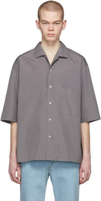 Lemaire Grey Convertible Collar Shirt