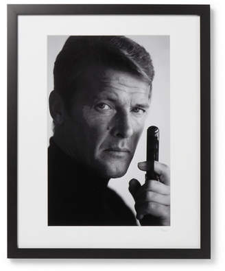 Sonic Editions Framed 1972 Roger Moore As James Bond Print, 17 X 21