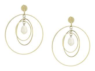 Tory Burch Multi Hoop Pearl Earrings