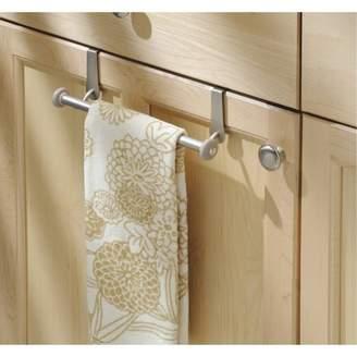 InterDesign York Over-the-Cabinet Kitchen Dish Towel Bar Holder, Various Quantities