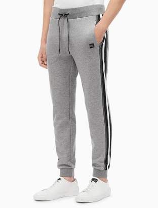 Calvin Klein regular fit knit striped jogger sweatpants