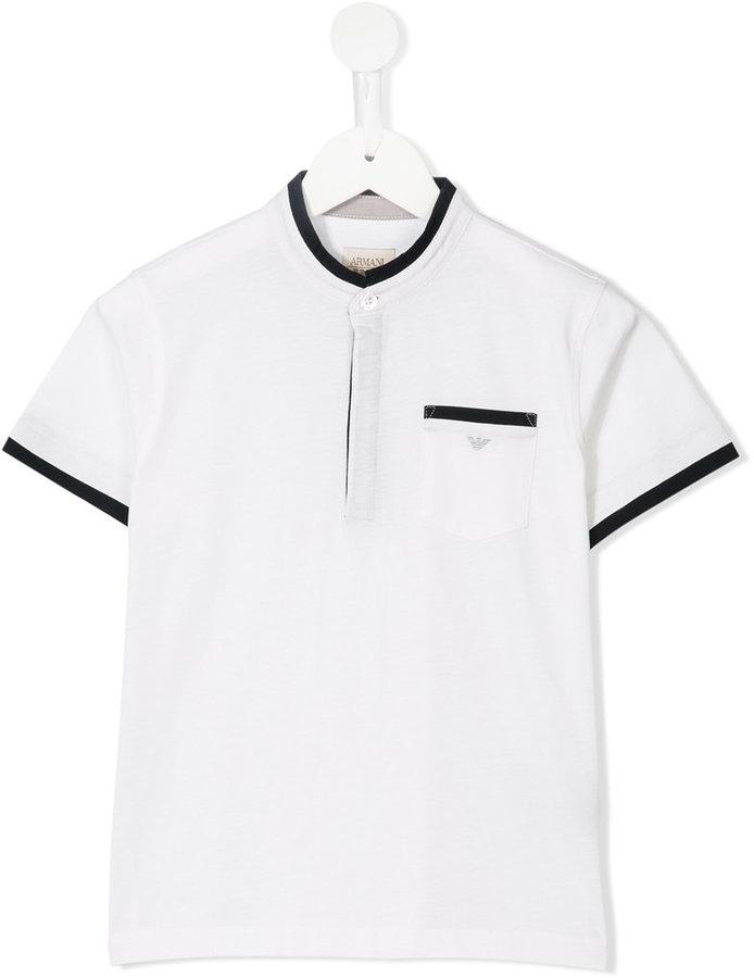 Armani JuniorArmani Junior contrast trim polo shirt