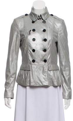 Burberry Metallic Leather Jacket