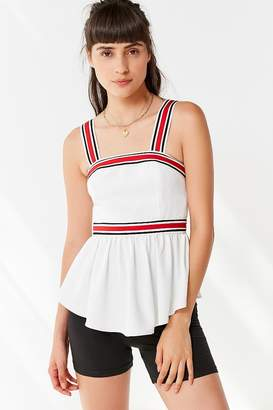 C/Meo Collective Moved Striped Peplum Top