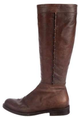 Henry Cuir Distressed Knee-High Boots