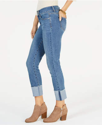Style&Co. Style & Co Frayed-Cuff Ankle Jeans, Created for Macy's