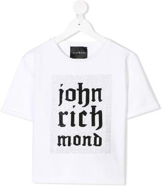 John Richmond Kids embellished logo print T-shirt