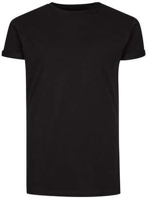 Topman Mens Black Ultra Muscle Fit Roller T-Shirt