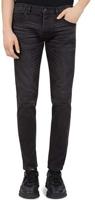 The Kooples Japanese Denim Skinny Jeans in Black Washed