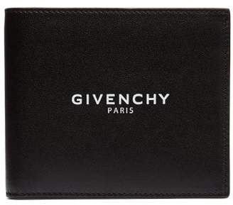 Givenchy Logo Stamped Bi Fold Leather Wallet - Mens - Black