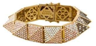 Eddie Borgo Ombré Large Pavé Crystal Pyramid Bracelet