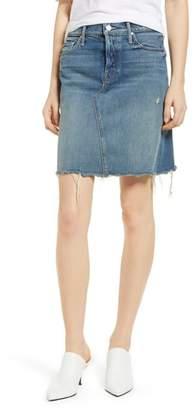 Mother The Tomcat Fray Denim Skirt
