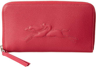 Longchamp Le Foulonne Leather Zip Around Wallet