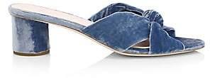 Loeffler Randall Women's Celeste Knotted Velvet Sandals