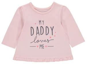 George Pink Daddy Slogan Long Sleeve Top