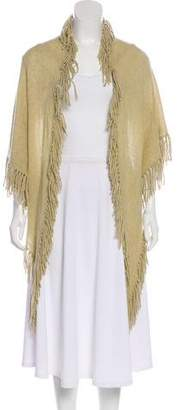 Minnie Rose Cashmere Fringe Scarf