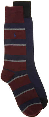Polo Ralph Lauren Rugby Stripe Crew Socks - 2 Pack - Men's
