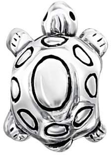 Jo for Girls Sterling Silver Turtle Bead