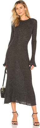 Autumn Cashmere Rib Bell Sleeve Dress