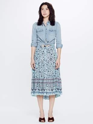 Xirena XiRENA Kaia Xanadue Printed Gauze Skirt - Blue Lagoon