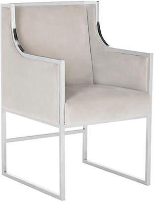 One Kings Lane Arteaga Accent Chair - Almond Velvet