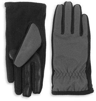 Isotoner Sherpa-Nylon Tech Gloves