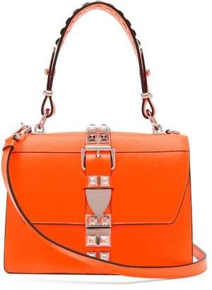 Prada Elektra Studded Leather Shoulder Bag - Womens - Orange