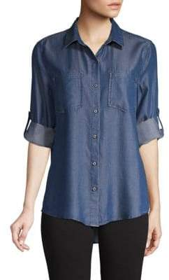 Roll-Sleeve Button-Down Shirt