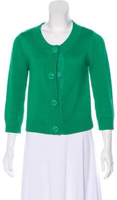 Tibi Knit Button-Up Cardigan