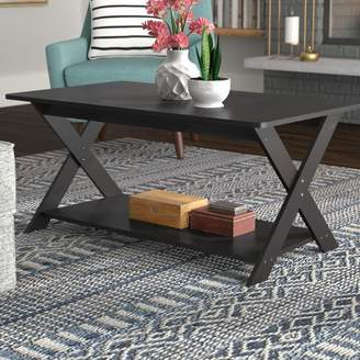 Ebern Designs Arthurs Modern Simplistic Criss-Crossed Coffee Table