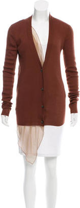 Vera Wang Silk-Accented Cashmere Cardigan $75 thestylecure.com