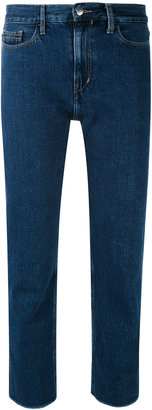 Calvin Klein Jeans high rise cropped jeans $102.52 thestylecure.com