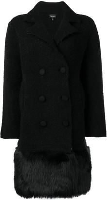 Emporio Armani short double-breasted coat