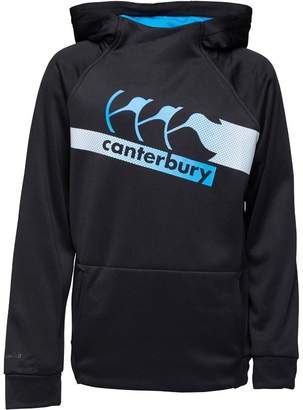 Canterbury of New Zealand Boys Vaposhield Poly Fleece Hoody Jet Black